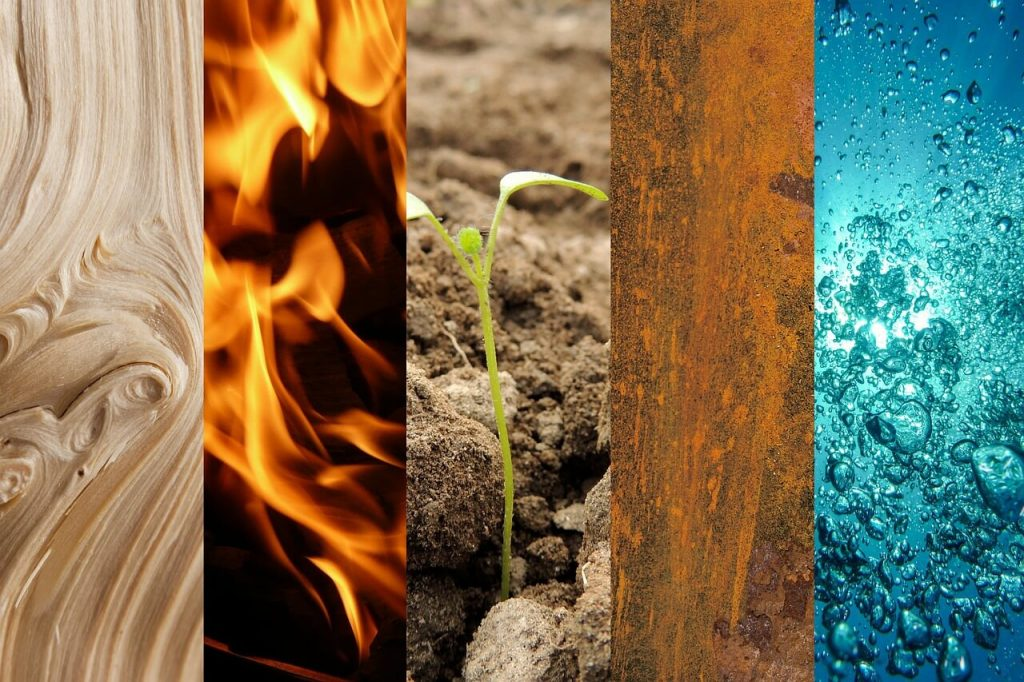 five elements of nature in feng shui to attract love