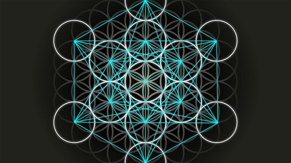 hexahedron, sacred geometry symbol