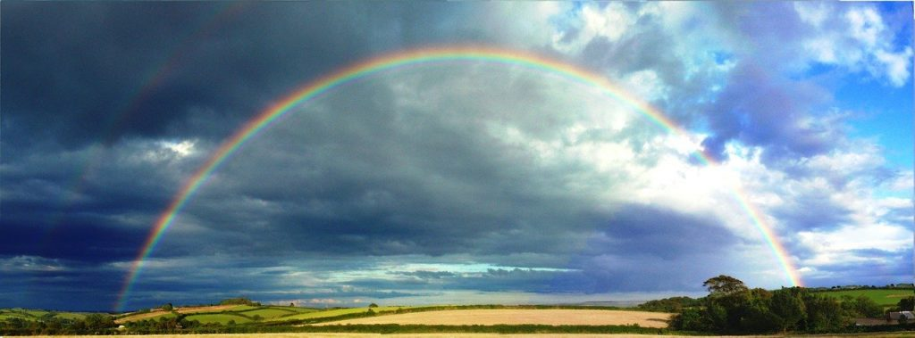 seeing rainbows, universal signs, angel signs, angel messages